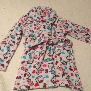 HELLO Kitty girls Medium Robe cover up